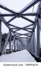 bridge filled with snow