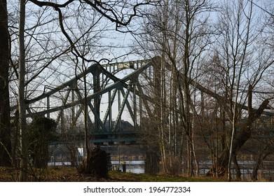 Bridge Glienicker Bruecke over the River Havel in Spring, Berlin - Potsdam