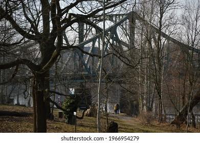 Bridge Glienicker Bruecke in Spring, Berlin - Potsdam