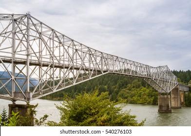 Bridge of the Gods Spanning Columbia River - Oregon/Washington