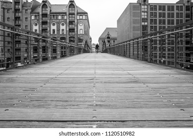 Bridge in the Hafencity in Hamburg