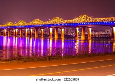 Bridge han river in Seoul,Korea
