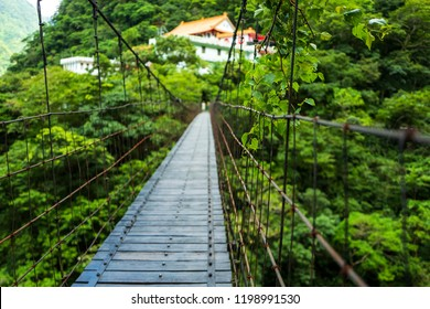 Bridge at he Changchun Trail at Taroko Gorge National Park in Taiwan