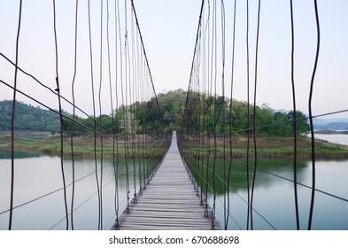 Bridge and hill