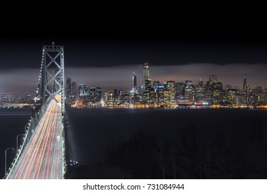 A Bridge To Illuminated Diversity. I was so fortunate and lucky to capture this stunning view of Bay Bridge and the San Francisco skyline as seen from the southwest point of Treasure Island.