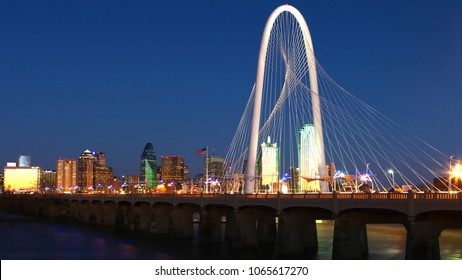 The Bridge into Dallas at night