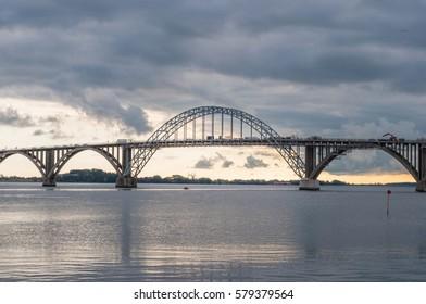 the bridge to island of Mon in Denmark