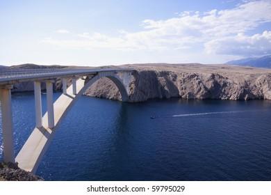 Bridge to the island Pag Croatia