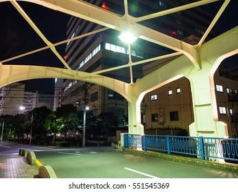 Bridge in Japan Night view
