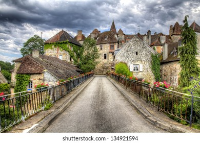 Bridge Leading into the Beautiful Village of Carennac, France