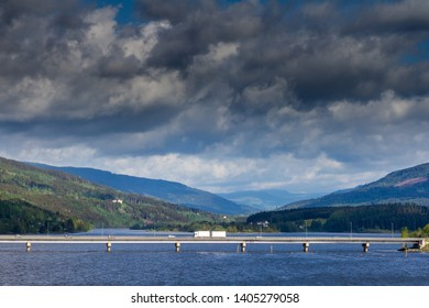 The bridge to Lillehammer in Norway