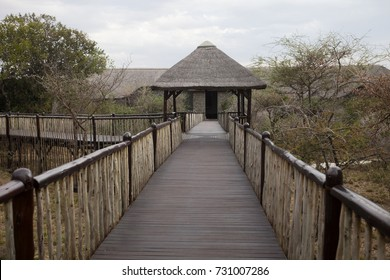 Bridge, lodge in Tanzania, Africa