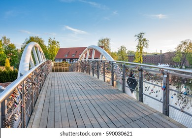 Bridge of love in Bydgoszcz