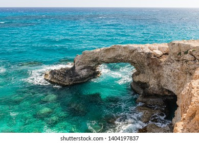 The bridge of love or love bridge is located in one of the most beautiful tourist attractions in Ayia Napa, Cyprus