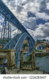 Bridge Luis I in Porto, Portugal