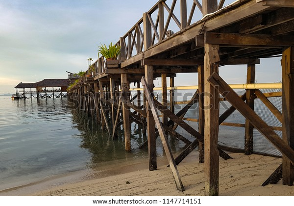 A bridge at Mabul Island