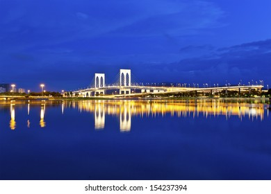 Bridge in Macau at night