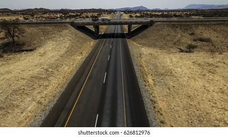 Bridge in Namibia over B1 highway, southern Africa