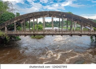 Bridge near Congo river in Brazzaville, Congo Republic. Travel to Brazzaville in West-Africa on the Congo river.