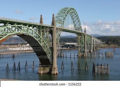 Bridge at Newport on the central Oregon Coast