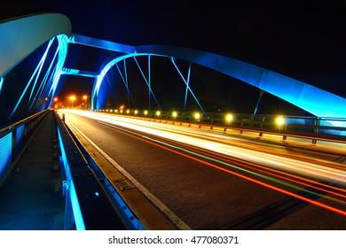 Günzburg Bridge at night
