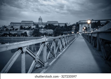 Bridge at night. Budapest, Hungary