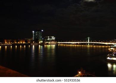 Bridge in night Cologne