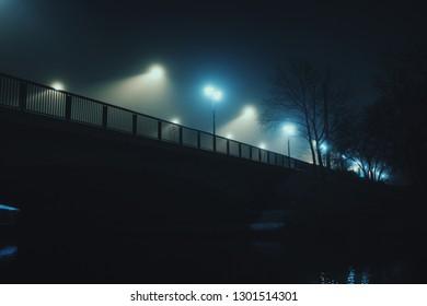 bridge at night / fog