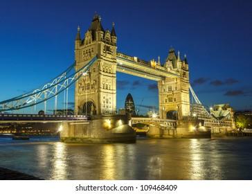 Bridge at night, London, UK