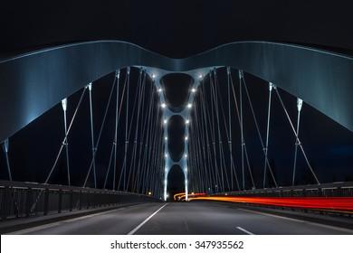 Bridge with night traffic