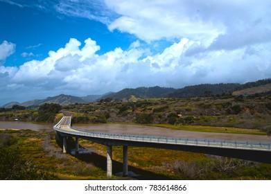 Bridge north of Mendocino, California