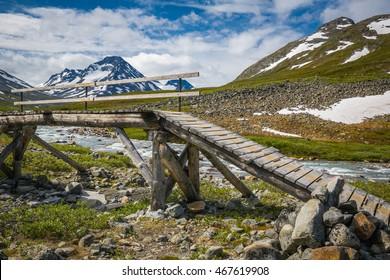 A bridge the Norwegian national park Jotunheimen