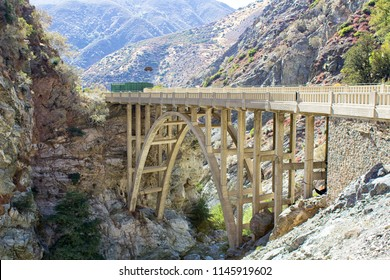 Bridge to Nowhere. Located in the Azusa  mountains in California.