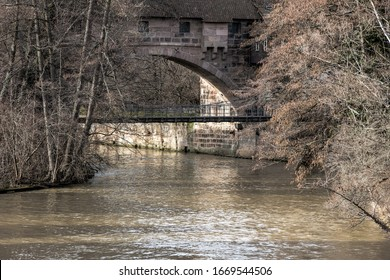 A bridge in the old town of Nuremberg