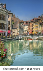 Bridge on the Canal of Annecy, France
