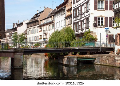 Bridge on the channel in Strasbourg