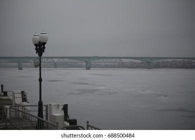 Bridge on a frozen river