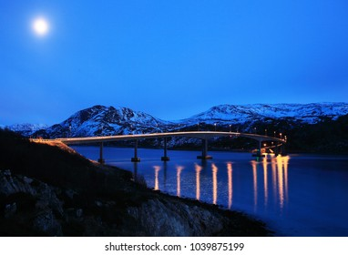 Bridge on Kvalija island in Norway
