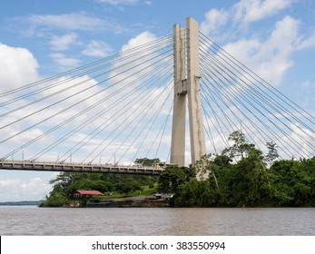 Bridge on the Rio Napo, in the Amazon, near Coca, Ecuador