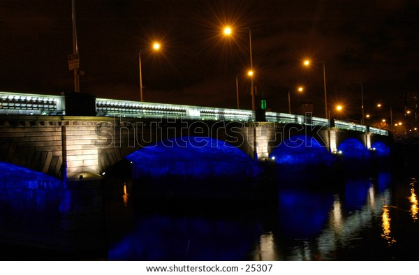 Bridge On The River Clyde In Glasgow,Scotland