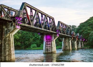 Bridge on a river Kwai, Thailand