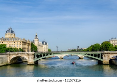Bridge on the River Seine in Paris. France.