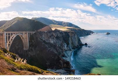 The bridge on the road of big sur