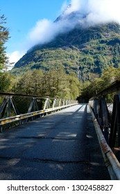 Bridge on State Highway 94, road to Milford Sound, Fjordland, South Island, New Zealand