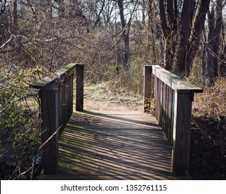 A Bridge On A Trail At Olde Izaak Walton Park, Leesburg, Virginia