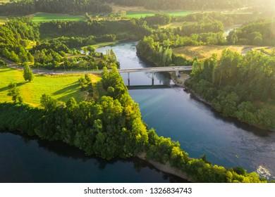 Bridge over beautiful river