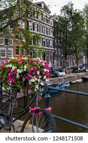 Bridge over a canal in Amsterdam