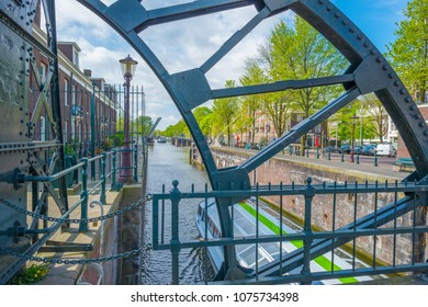 Bridge over a canal in the city of Amsterdam