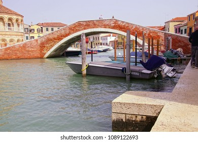 Bridge over a canal on the island of Murano Venice, Italy
