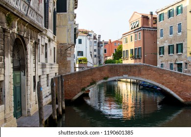 Bridge over the canal in Venice (Italy)